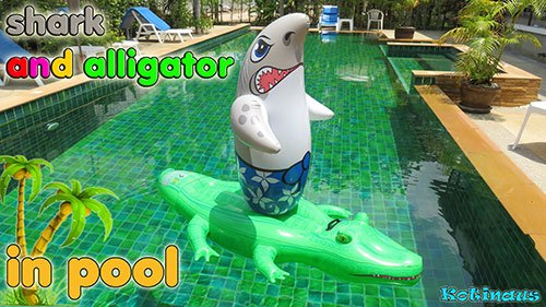 leave inflatable toys in your pool