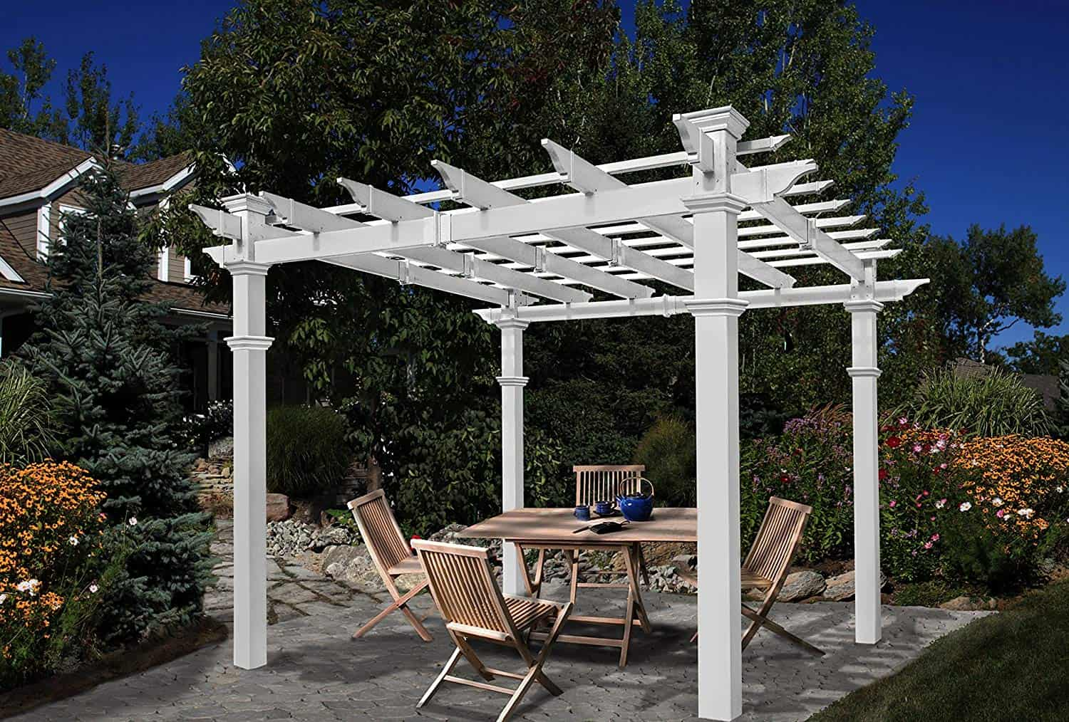 best-metal-pergola-kit