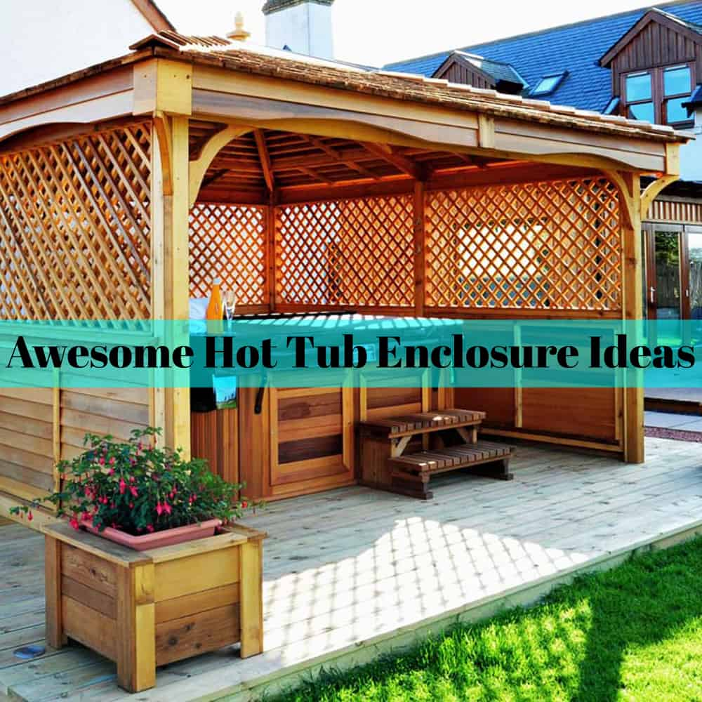Cool 30 Awesome Hot Tub Enclosure Ideas For Your Backyard The Home Interior And Landscaping Spoatsignezvosmurscom