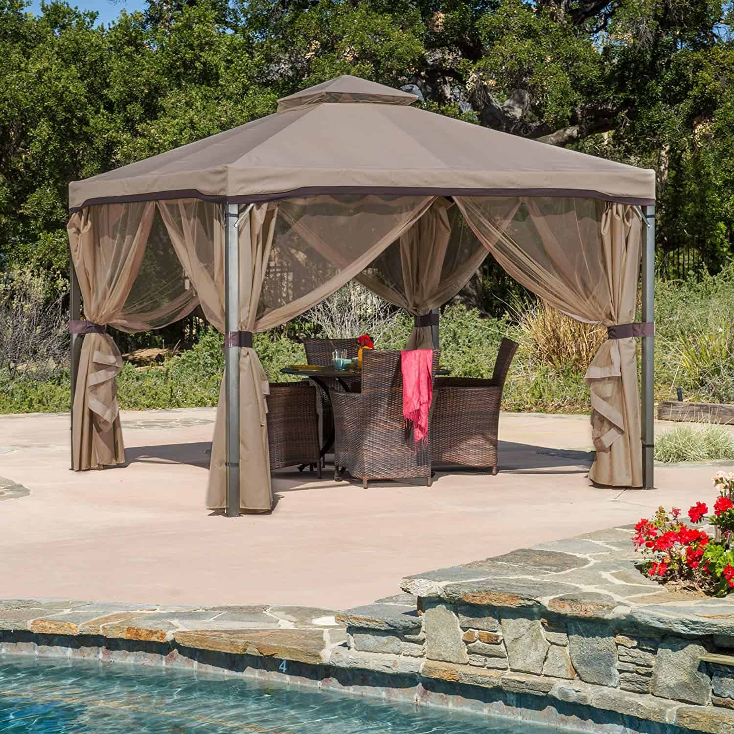 Sonoma | Outdoor Fabric/Steel Gazebo Canopy By Great Deal Furniture