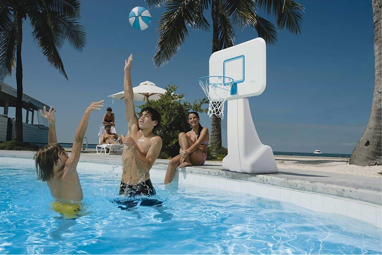 poolside basketball hoop