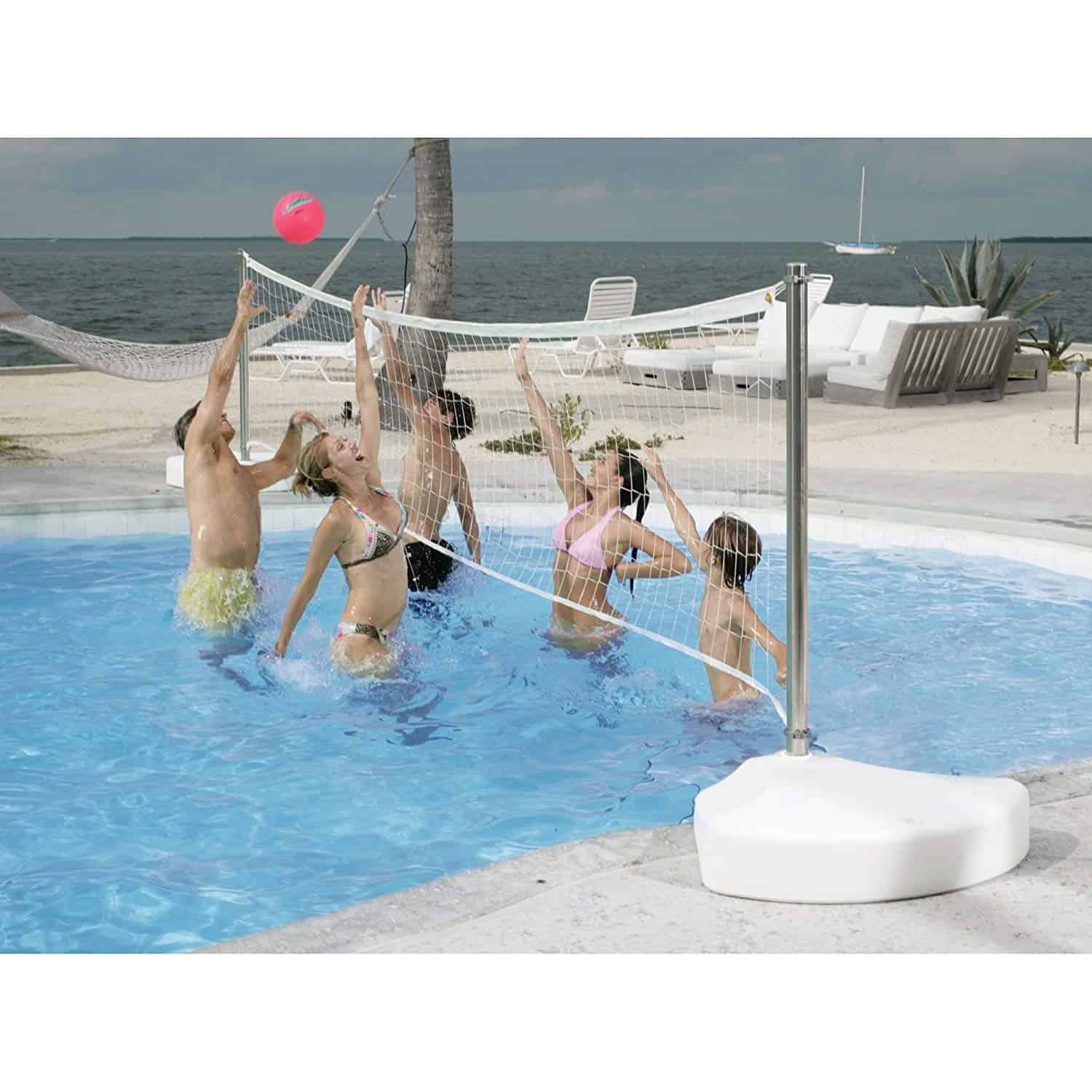 above ground pool volleyball net