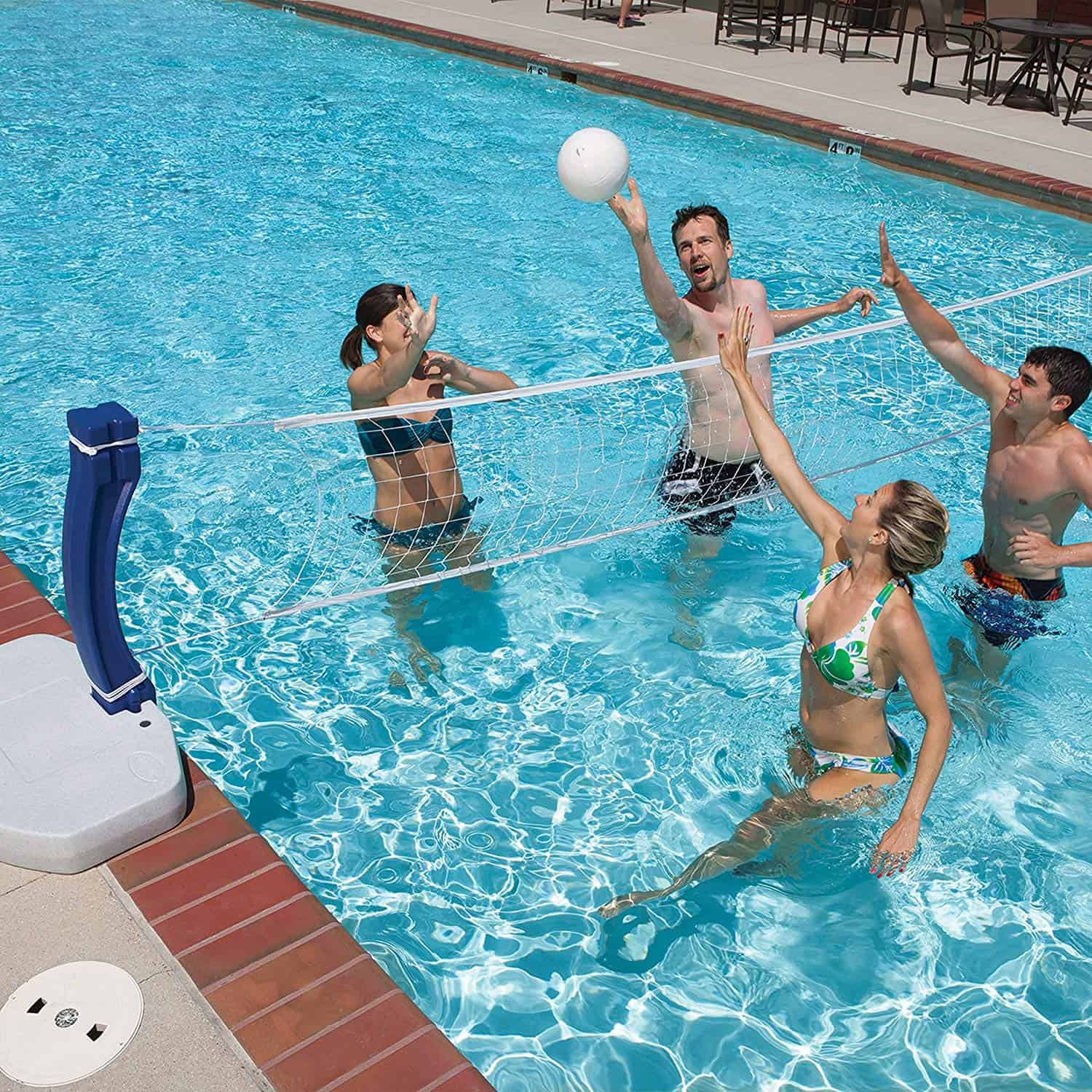 above ground pool volleyball