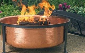 copper fire pit bowls