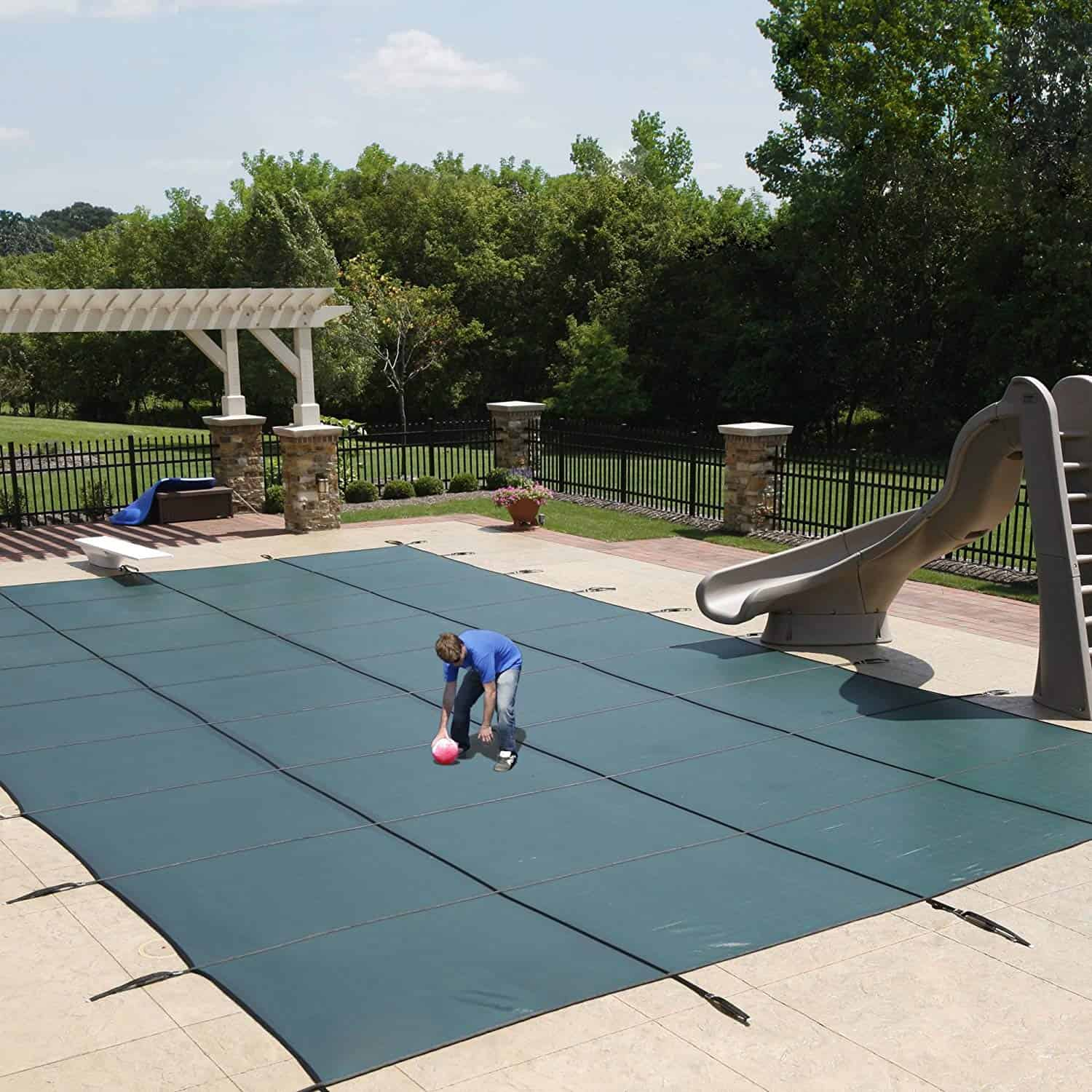 Blue Wave Rectangular In-Ground Pool Safety Cover