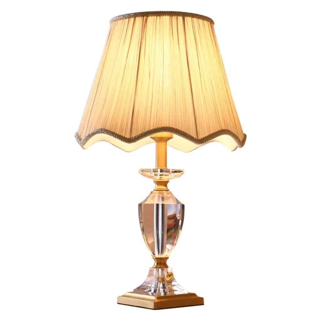 T4134 American Simple Copper Crystal Warm Romantic Bedroom Living Room Lamp