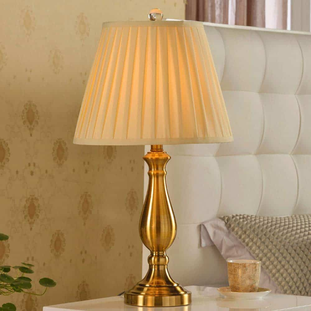 American Luxury Decorative Retro Copper Table Lamp