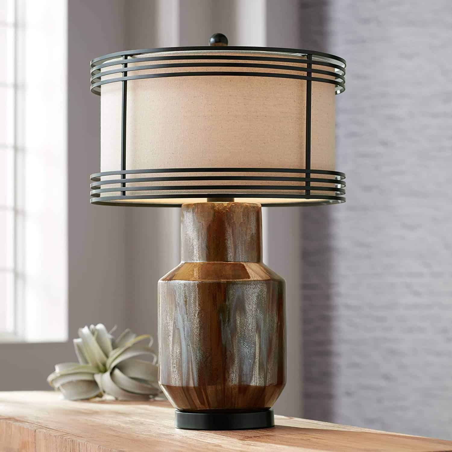 Arthur Rustic Chic Table Lamp Copper