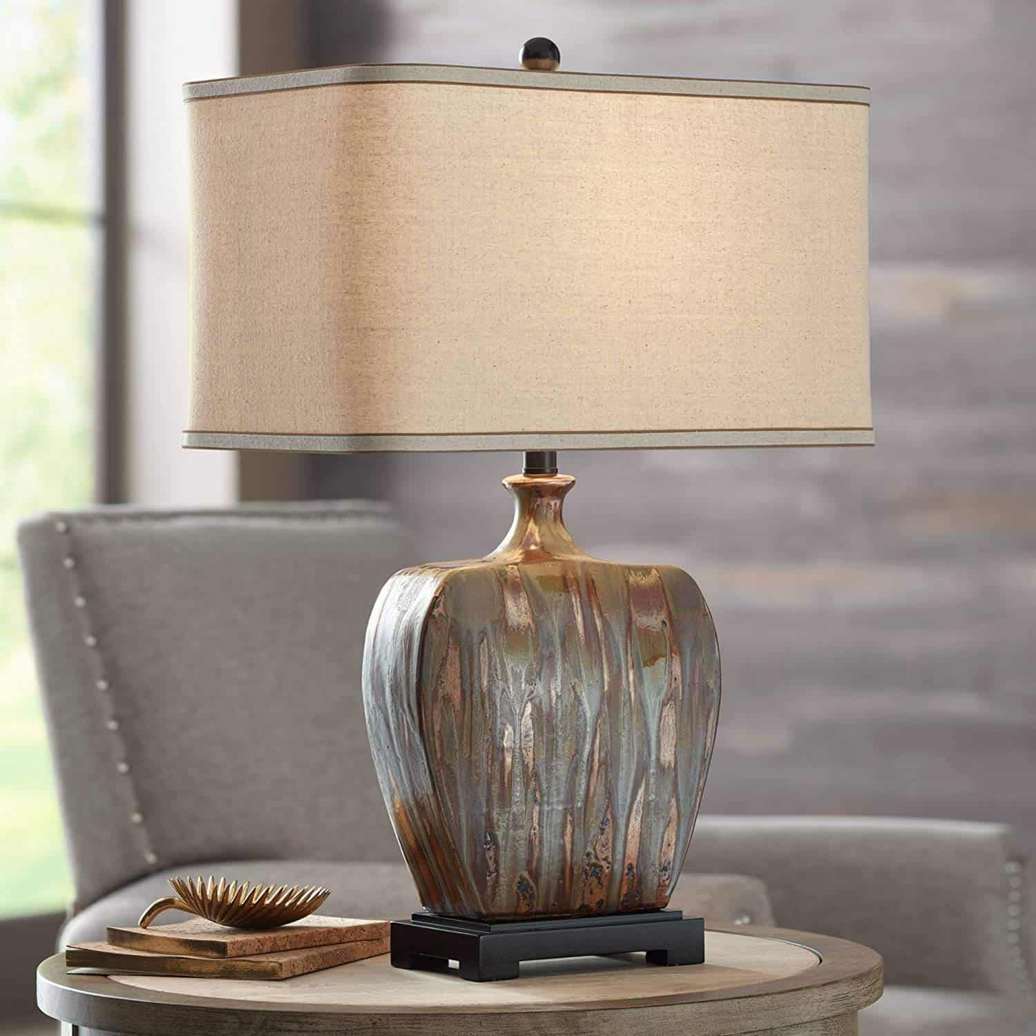 Julius Modern Table Lamp Ceramic Copper