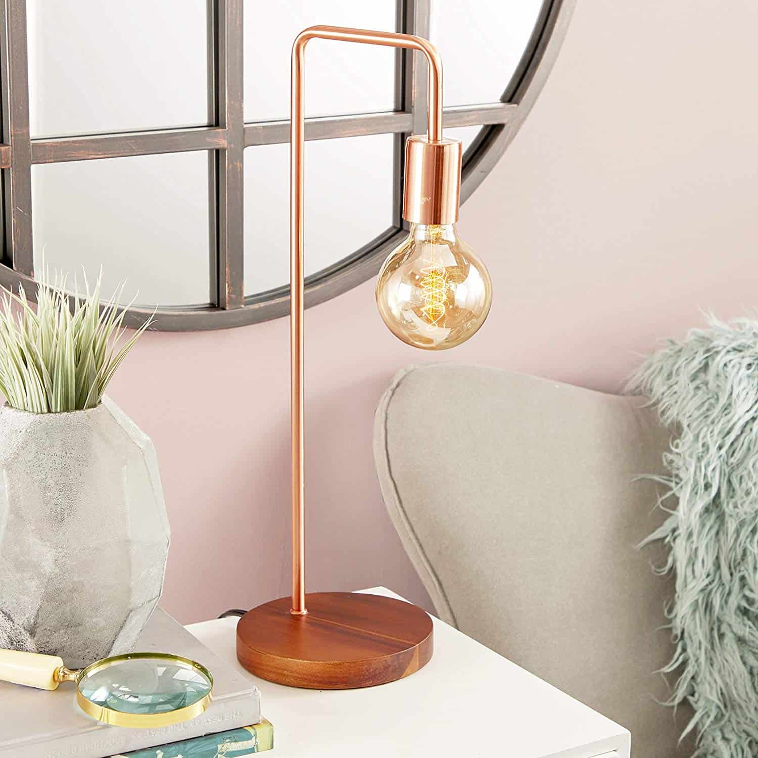 Cosmopolitan 39113 Tall Industrial Style Metallic Copper Metal Table Lamp