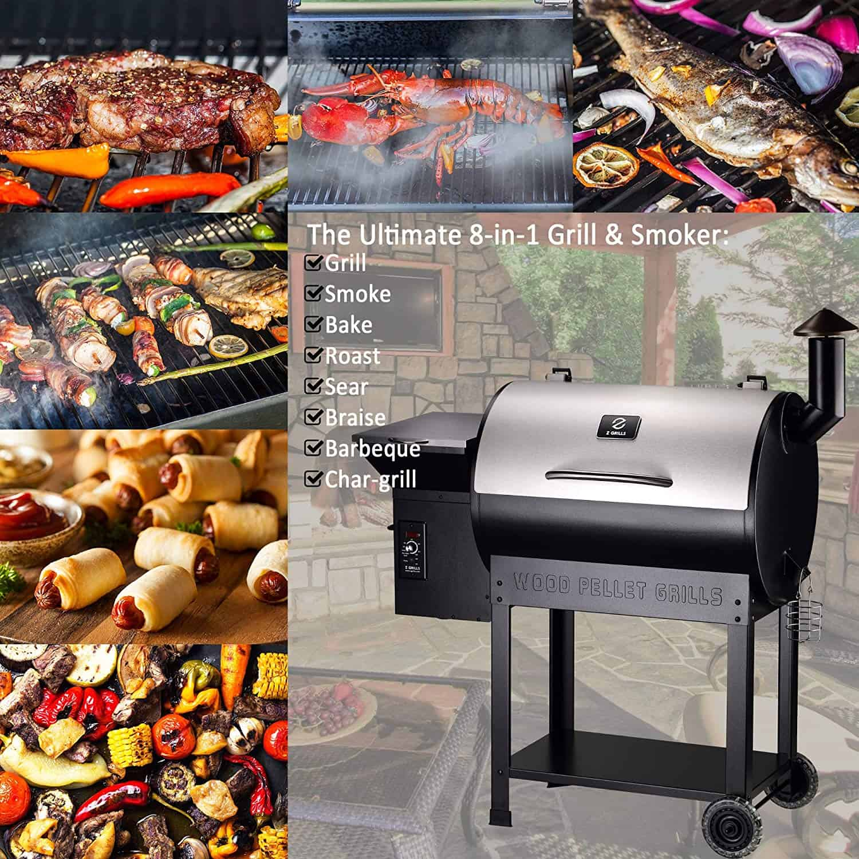 Z GRILLS ZPG-7002ENC Wood Pellet Grill & Smoker