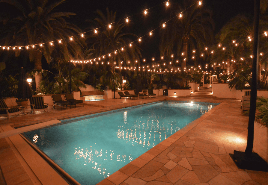 pool Hanging lights