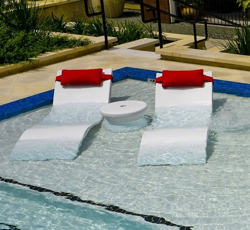 In pool loungers