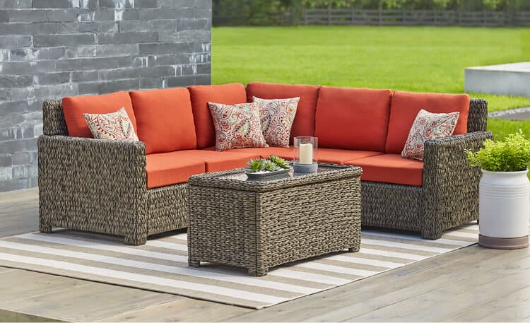 Matching patio furniture