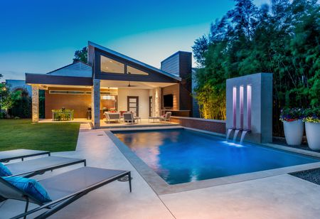 Modern style pools