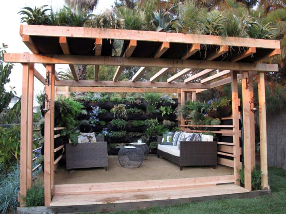 Outdoor room for backyard