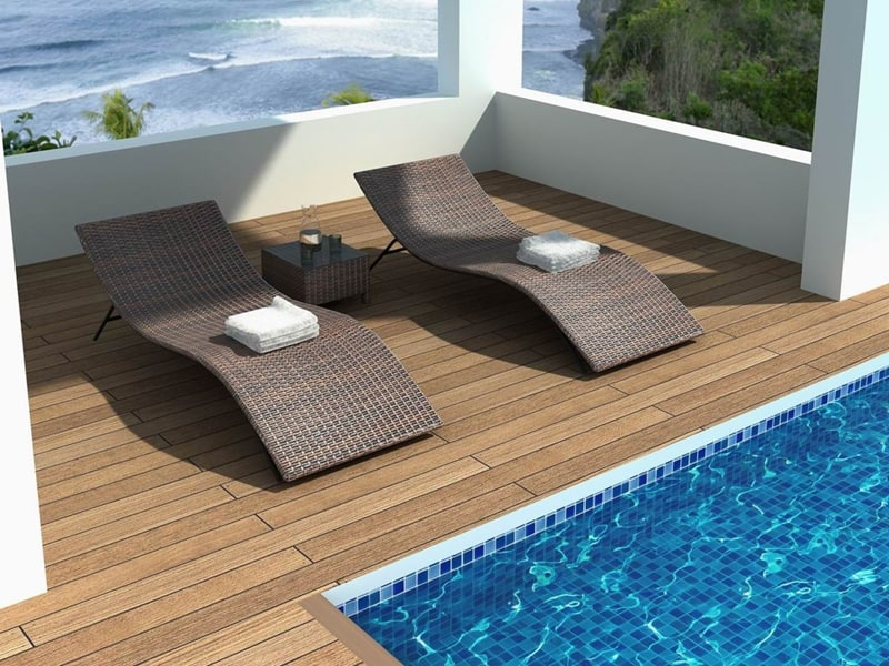 Pool lounging chairs