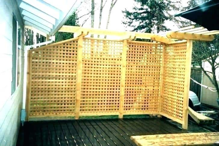 Wooden Fence Privacy Screen