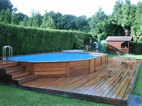 wooden pallet pool