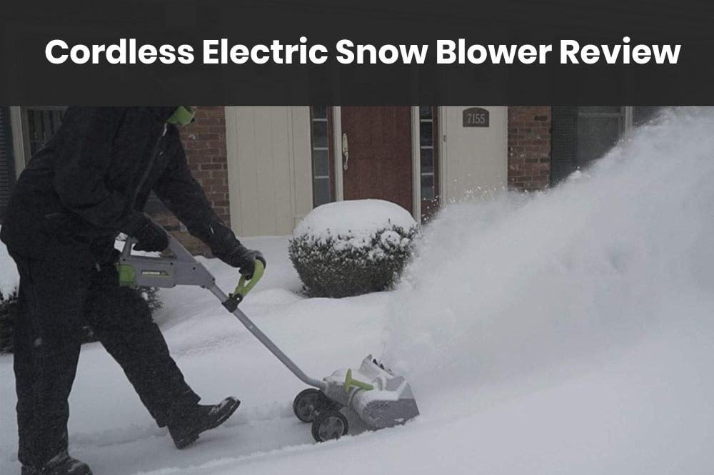 Cordless Electric Snow Blower