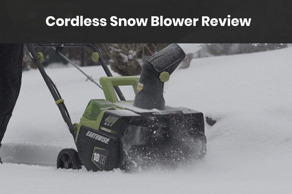 cordless snow blower review
