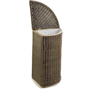basket lady corner wicker laundry hamper