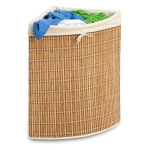 honey-can-do bamboo wicker corner hamper