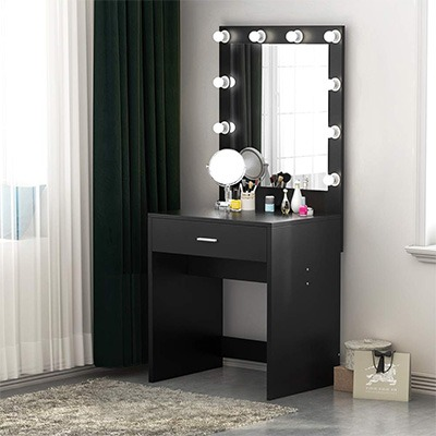 tribesigns vanity set with lighted mirror