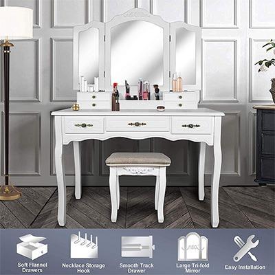 vanity beauty station