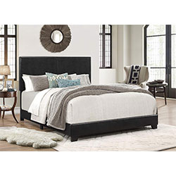 crown mark upholstered panel bed