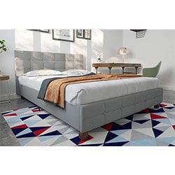 dhp rose linen upholstered platform bed