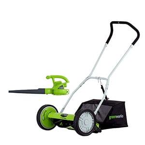 greenworks 16-inch reel lawn mower