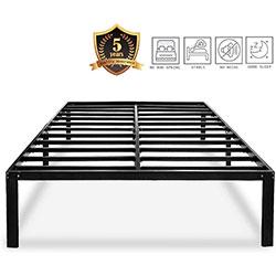 haageep black queen bed frame