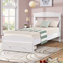 wood platform bed frame