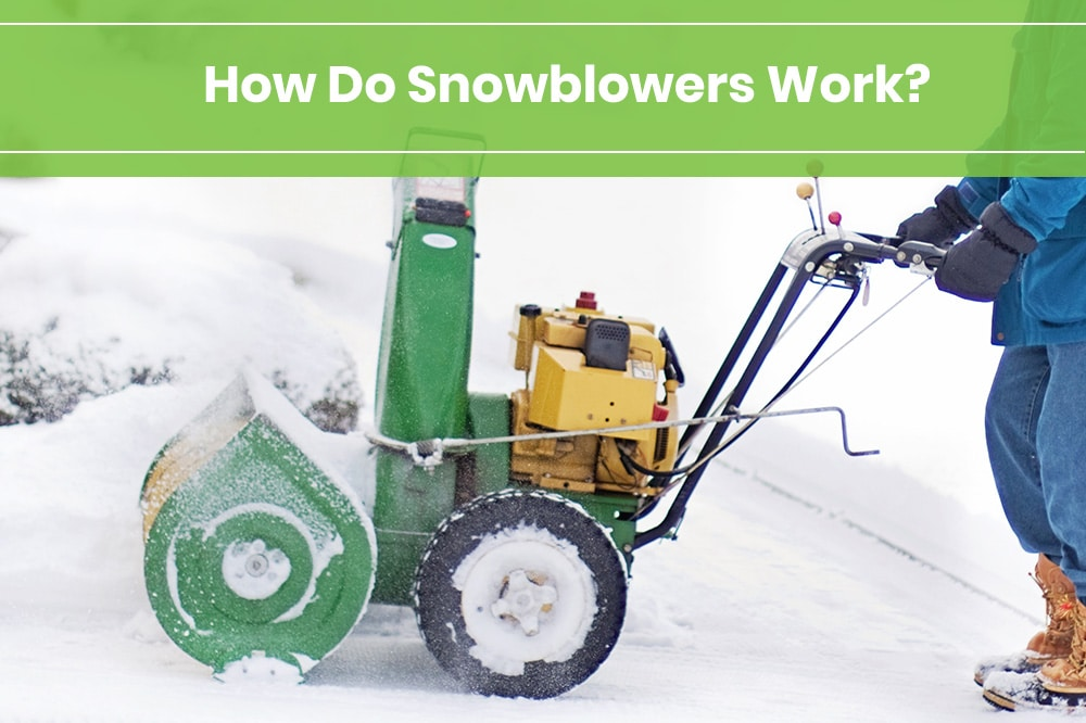 how does a snowblower work