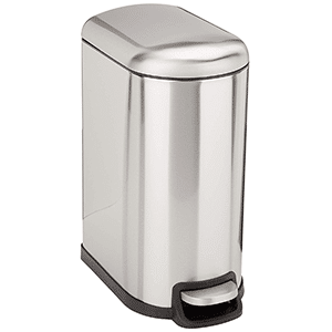 amazonbasics rectangle soft-close trash can