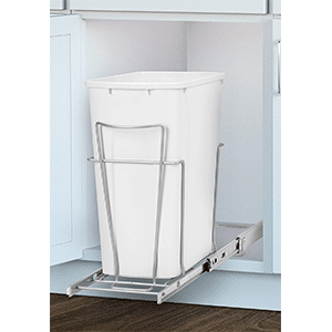 panacea grayline slide-out single trash can