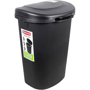 rubbermaid touch top lid trash can