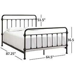 full size iron bed frame