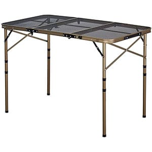 kazmi iron mesh camp table